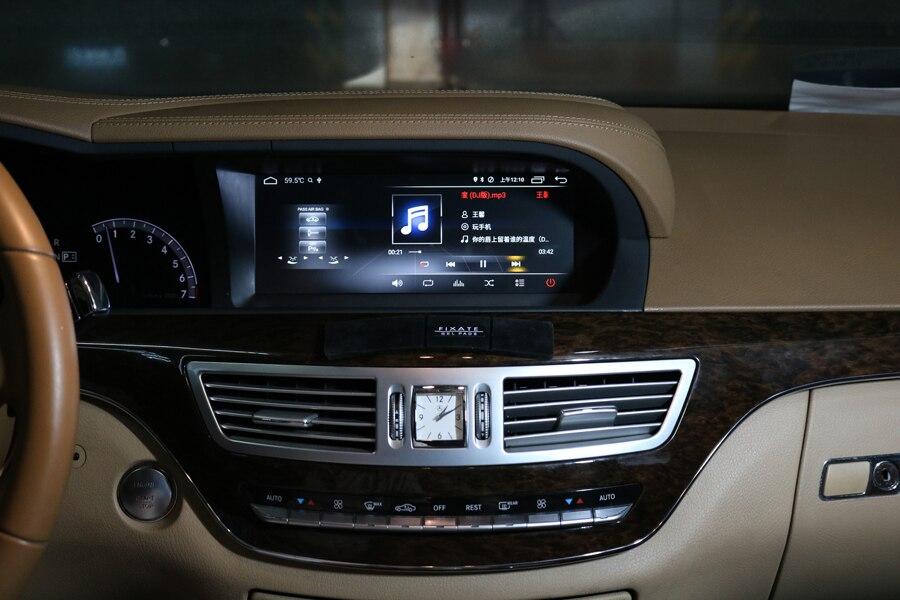 Prémio de Áudio Dispositivo de navegação de Som Do Carro Para O Benz classe S S600 S500 S450 S430 S420 GPS rádio android 8.0 multimídia jogador