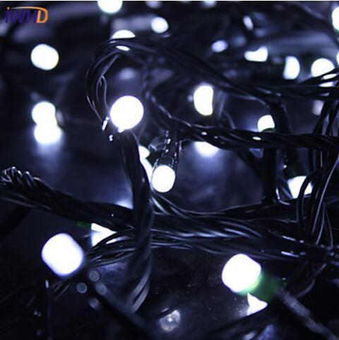 IWHD 10 м светодиодный наружный Рождественский фонарь 220 В, сказочные огни, рождественские украшения, Свадебная вечеринка, день рождения, светодиодный светильник Luces De Navidad - Испускаемый цвет: Pure White