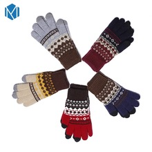 Miya Mona Fashion Deer Warm Mens Winter Gloves Soft Wrist Female Glove