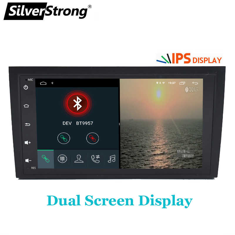 SilverStrong 2Din IPS Android9.0 車ラジオアウディ A4 RS4 2002-2011 A4 車の Gps ステレオナビゲーション S4 2 DIN ラジオ
