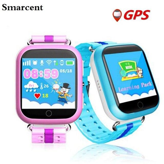 GPS Smart Watch Q100 Q750 Детские Часы с Wi-Fi 1.54 дюймов сенсорный экран SOS Вызова Расположение Устройства Трекер для Детей Безопасный PK Q80 Q90
