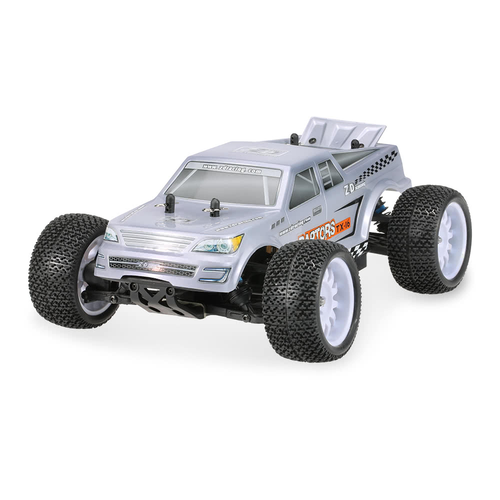 RC Racing Cars 1/16 Scale 4WD RC Truck RTR With 2.4G 3CH Remote Control Rechargeable Battery Off-Road Car wltoys 12402 rc cars 1 12 4wd remote control drift off road rar high speed bigfoot car short truck radio control racing cars