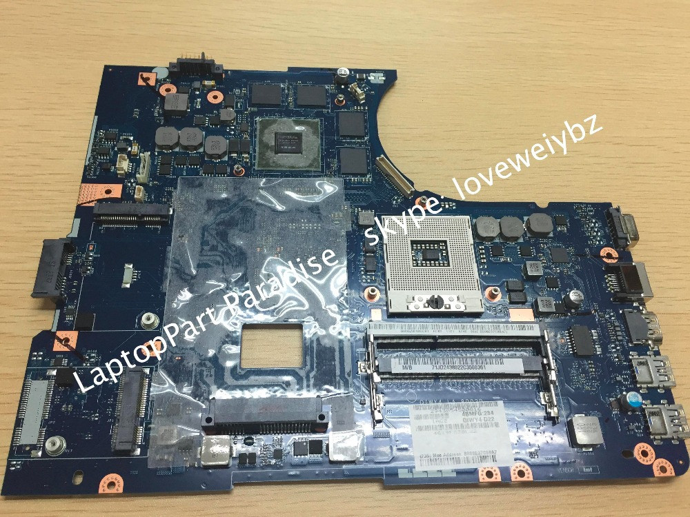 New QIWY4 LA 8002P For Lenovo Y580 Laptop font b Motherboard b font with GPU GTX660M