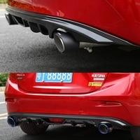 For Mazda 3 Axela 1.5L 2014 2017 rear bumper diffuser front lip front shovel protector auto parts flame arrester spoiler
