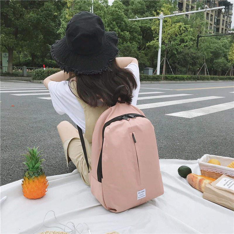 MayShow Classic Women Canvas Backpack Solid Bags Simple Style Men Black Backpack Unisex Bags Drop Shipping 2019 New Design