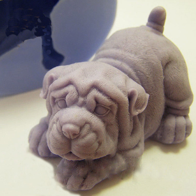 3D Silicone Mold Puppy Dog  Shaped Soap Mold Arts And Crafts Bath Soap Molding Hand Making Tools
