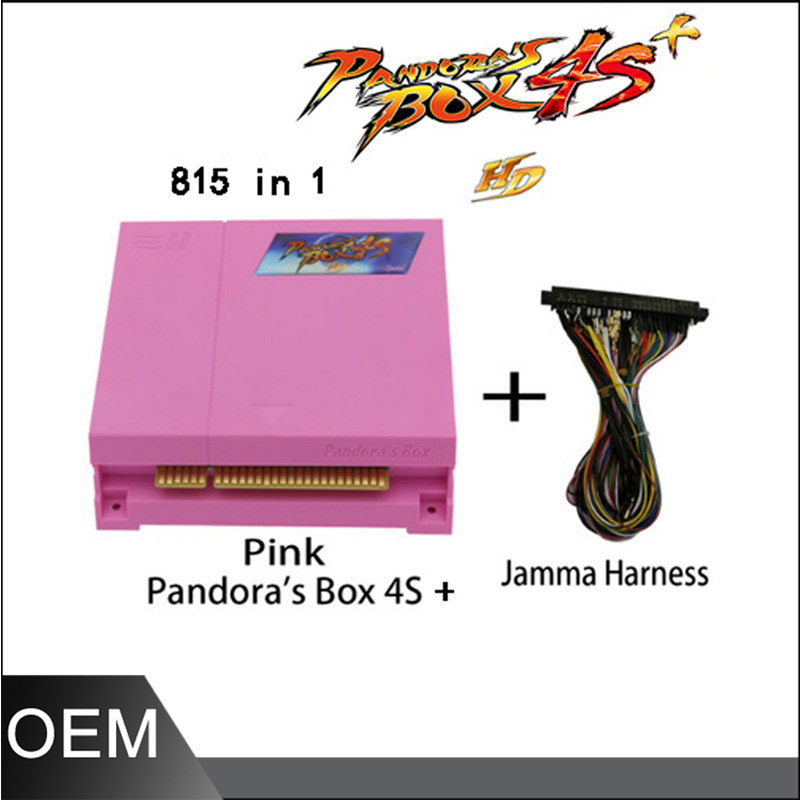 Pandora Box 4S  Jamma Mutli Game Board with Jamma Harness 815 in 1 Multi game Jamma  Board for 2 players arcade consoles led lights mini arcade bundle machines 645 in 1 joystick game consoles with jamma multi games pandora 4 game pcb board
