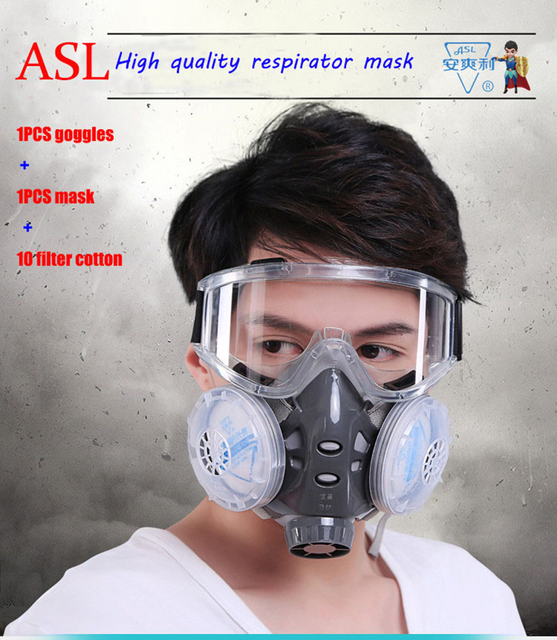 ASL-308 respirator dust mask Lightweight design respirator mask against PM2.5 Industrial dust welding bacterial pollen mask airborne pollen allergy