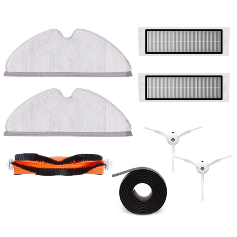 купить Spare Part for Xiaomi Vacuum S50 S51 2pc Side Brush 2pc Filters 2pc Mop Cloth 1pc Mian Brush 1pc Virtual Magnetic Wall онлайн