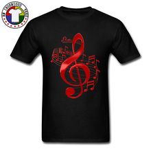 Red Treble Clef With Flowing Music Notes Printed Tshirts Love Wins Xxxtentacion Lil Peep Rock Popular T Shirt Men Custom