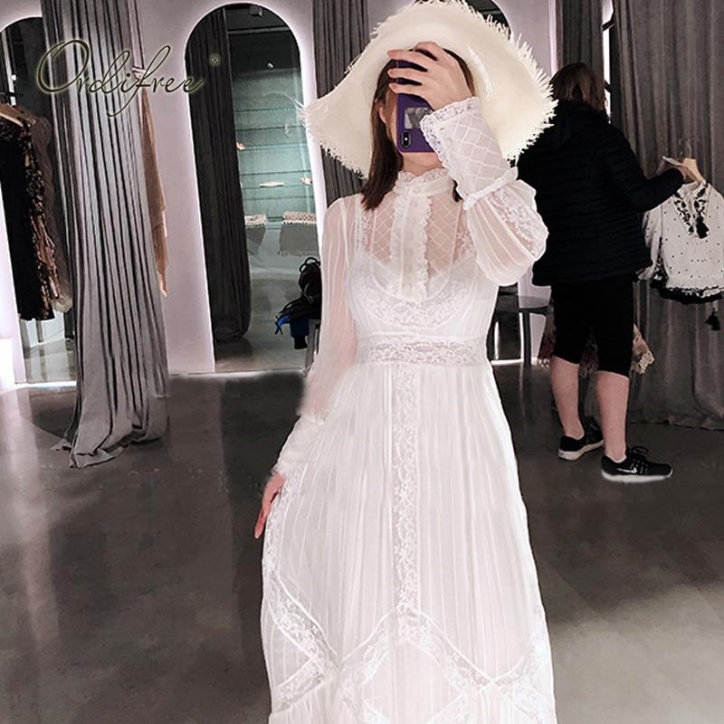 Kleid spitze lang weiss