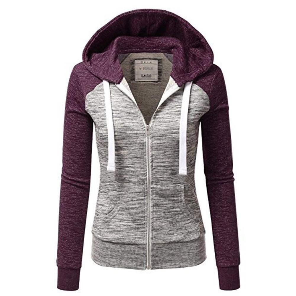 Women Hooded   Jackets   2018 autumn Causal windbreaker Women   Basic     Jackets   Coats Sweater Zipper Light weight   Jackets   Famale