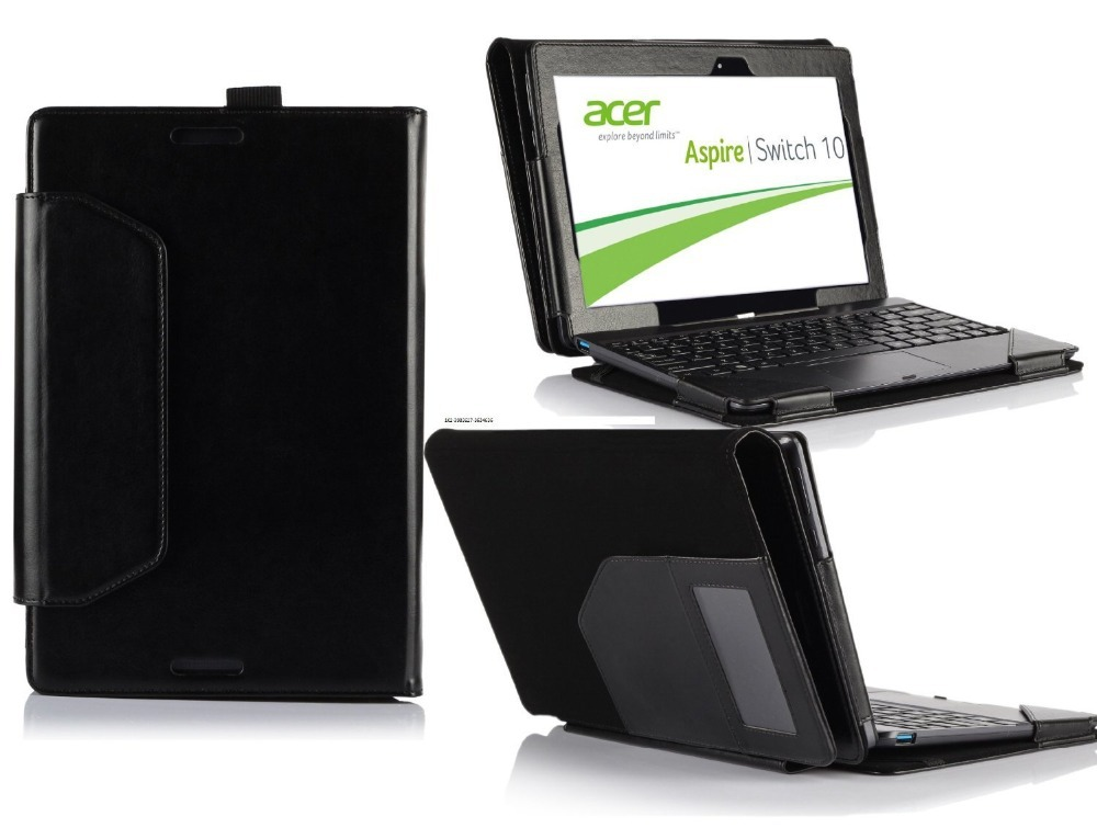 ivso leather keyboard portfolio stand cover case for acer. Black Bedroom Furniture Sets. Home Design Ideas