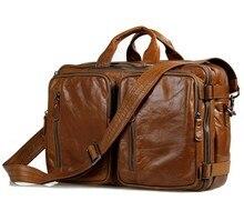 2016 förderung Echtes Leder Männer Taschen Multifunktionale männer Aktentasche Crossbody Schulter Handtasche Messenger Große Travel Pack