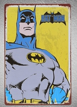 1 piece Superhero Batman Tin Plate Sign wall Room man cave Decoration Art Dropshipping Poster metal