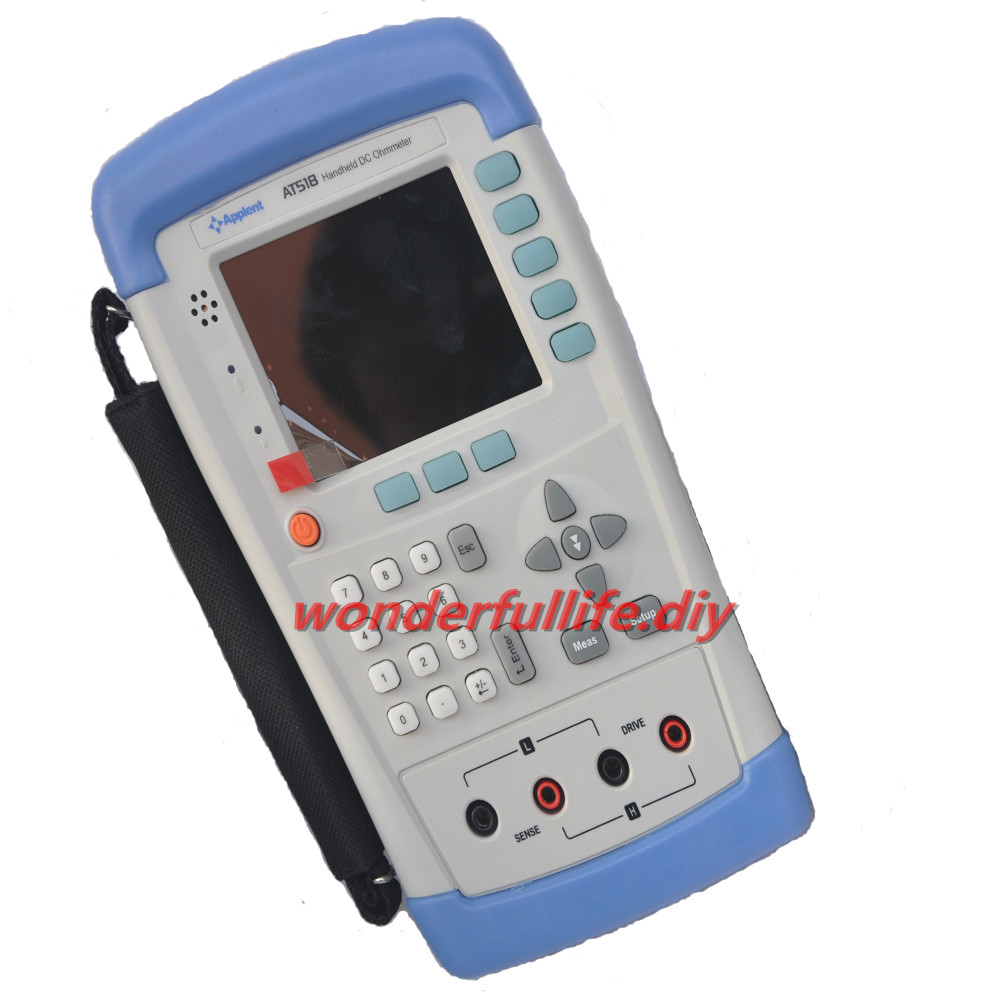 AT518 Portable Ohmmeter For Resistance Test Micro Ohm Meter DC Resistance Meter 10 Micro Ohm ~ 20M Ohm
