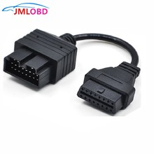 Kabel diagnostyczny samochodu Kia 20PIN OBD1 do 16PIN OBD2 kabel do Kia 20PIN Kia interfejs diagnostyczny samochodu OBD2 kabel Kia 20 PIN tanie tanio OC011 Car Diagnostic Cables and Connectors JMLOBD Black Newest 2018 Kable diagnostyczne samochodu i złącza 119g 11cm obd2 cable