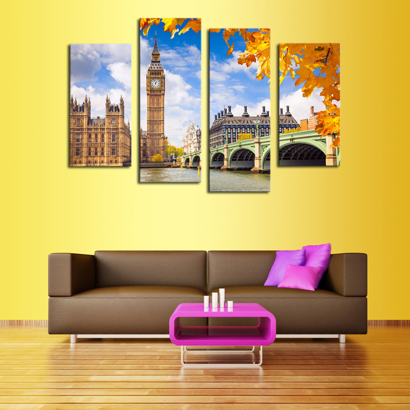 Cuadros Decoracion Canvas Painting Fallout Without Frame 4 Panels ...
