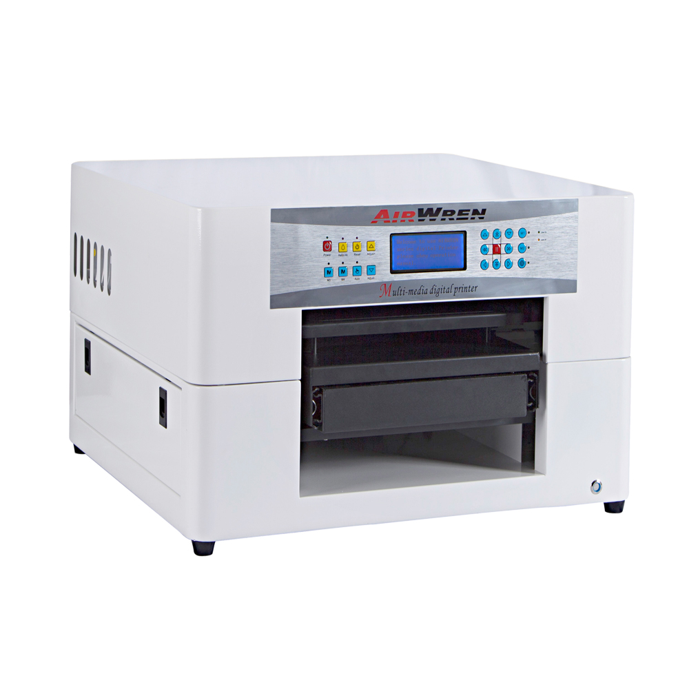 New Design High Quality Low Price A3 Size Digital Flatbed T- Shirt Printing Machine