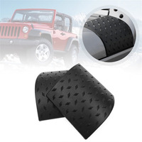 1 Pair Car Styling Hood Angle Wrap Covers Cowl Body Armor Front Cover Protective Fairing Diamond