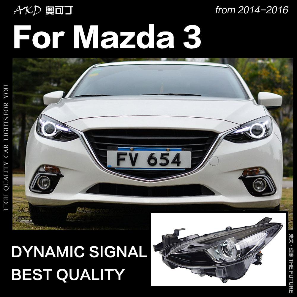 AKD Car Styling for Mazda 3 Headlights 2014 2016 Mazda3 Axela LED Headlight LED DRL Hid