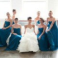 A Line Sweetheart Floor Length Teal Blue Bridesmaid Dresses Long Prom Gowns
