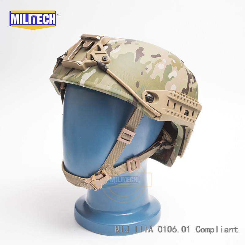 Dependable Militech M/lg Multicam Mc Nij Level Iiia 3a Air Frame Aramid Bulletproof Helmet Airframe Ballistic Helmet With 5 Years Warranty