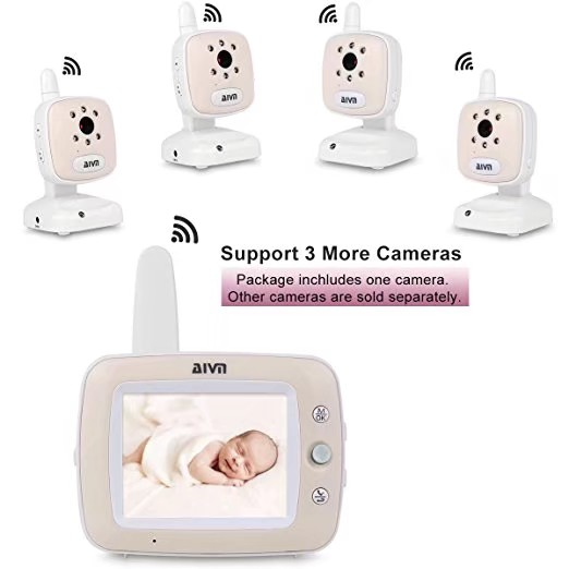 3.5 Inch  Temperature Display Feeding Alarm Wireless Intercom Baby Monitor