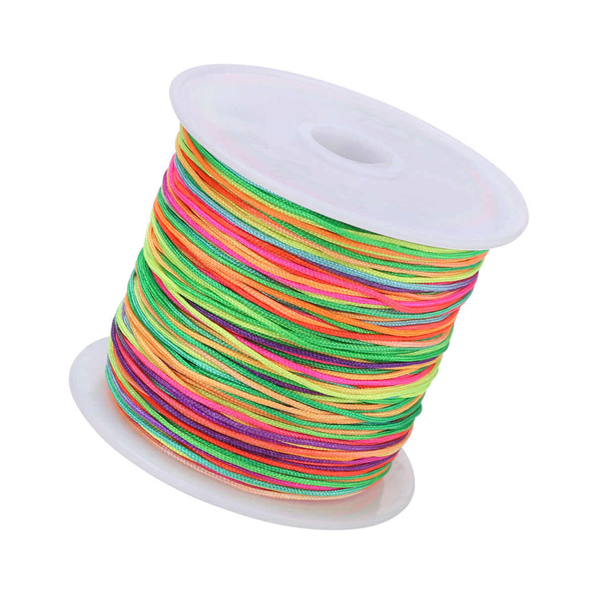 Nuevo 0,8mm 45 M/rollo de cable de Nylon hilo chino nudo macramé Rattail pulsera trenzada cadena para accesorios de costura para manualidades diy