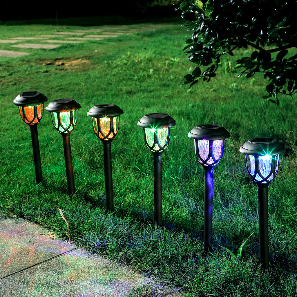 US $8.8 8% OFFSolar Lawn Ligh Garden outdoor decorations Waterproof  Colorful Solar Landscape decoration Place Light fashion Leisure  DelicateLawn