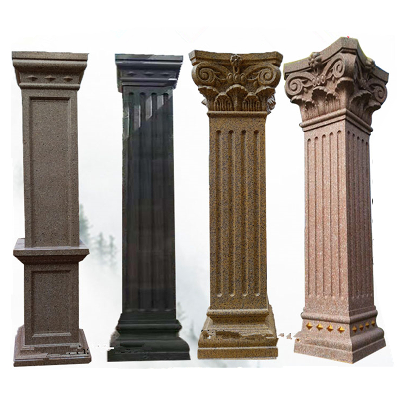 30cm/11.81in GRC GRG ABS Multi Pattern Square Concrete Gypsum Roman Pillar Form Work Mold  With Star &Leaves Tops And Slots Body