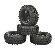 4 pcs 96mm 타이어 rc 1/10 오프로드 자동차 비치 락 크롤러 타이어 바퀴 림