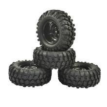 4 pièces 96mm pneu RC 1/10 tout terrain voiture plage roche chenille pneus roues jante