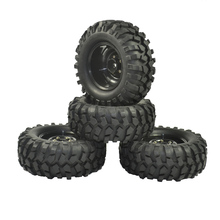 4PCS 96mm Reifen RC 1/10 Off Road Auto Strand Rock Crawler Reifen Räder Felge