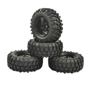 Image 1 - 4PCS 96mm Tyre RC 1/10 Off Road Car Beach Rock Crawler Tires Wheels Rim