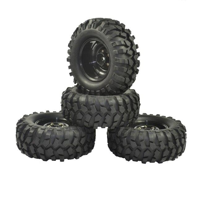 4PCS 96mm Tyre RC 1/10 Off Road Car Beach Rock Crawler Tires Wheels Rim