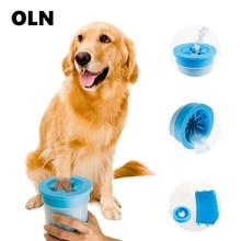 Портативная шайба для ног для домашних животных, мягкая силиконовая щетина, щетка для чистки лап, быстро Очищающая лапы, грязные лапы, инструменты для мытья ног для собак, Франция