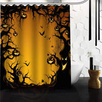 Custom Halloween Pumkins Shower Curtain 60 X 72 48 X 72 Bathroom Decor Fabric