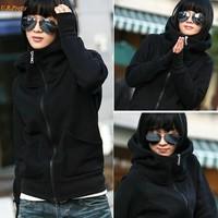 2016 Fashion Women Hoodies Coat Warm Zipper Outerwear Sweatshirts 4 Colors Ladies Jacket Hoody Winter Autumn