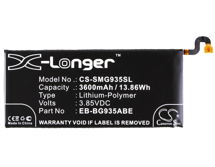 Battery SC-02H Cameron Sino S7-Edge Samsung Galaxy For Scv33/G935a/G935f/.. 3600mah EB-BG935ABE