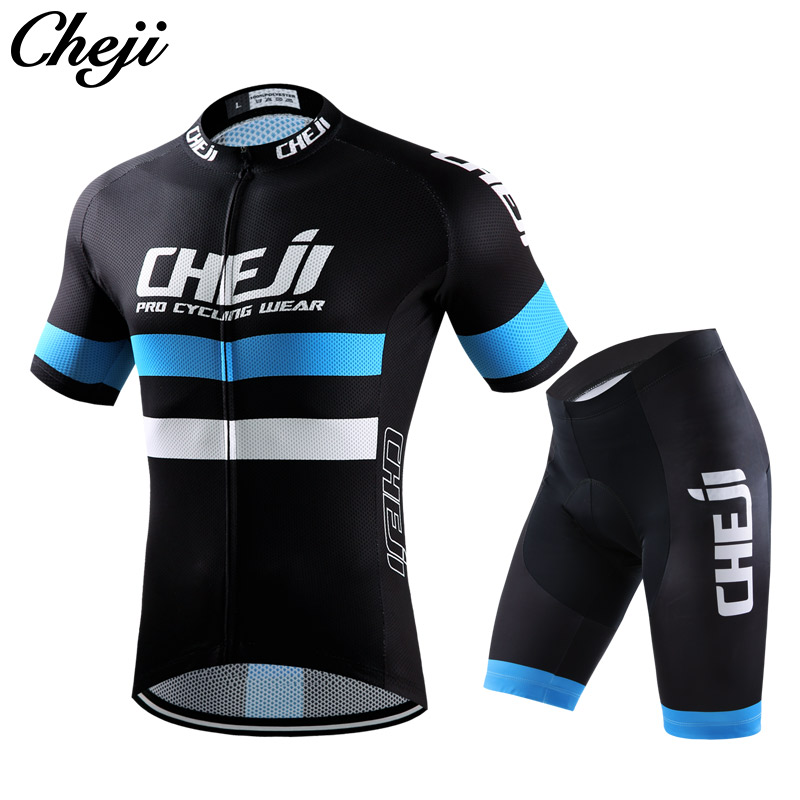 2017 New Mens Cycling Clothing Short Sleeve Jersey Set Quick Dry Road/mtb Bike Jersey To ...
