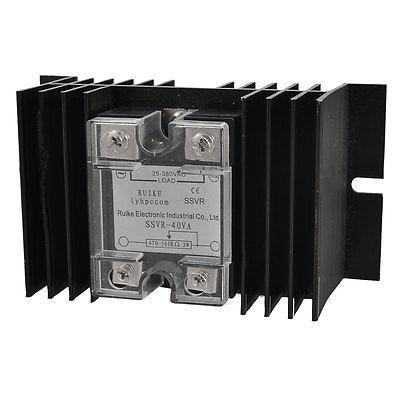 25-380VAC Single Phase Soid State Relay Voltage Resistance Regulator + Heat Sink 25a ac 380v solid state relay voltage resistance regulator w aluminum heat sink