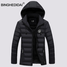 Men coat winter padded jacket long coat for men jacket coat with earphone quality cotton padded hoodies jacket(China)