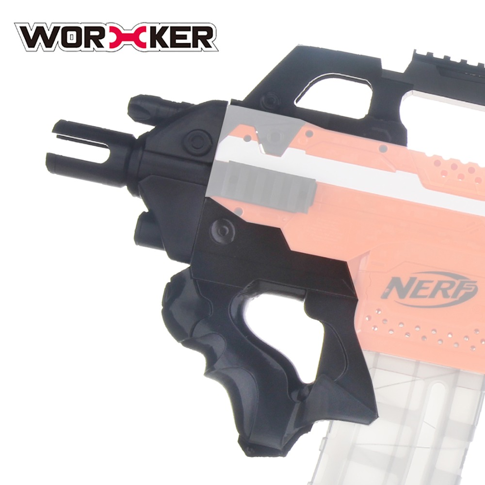 Worker F10555 3D Printing No.193 Thunder Type Front Tube Kit for Nerf Stryfe Black Decoration For Nerf Gun Modification
