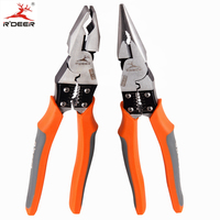 RDEER Long Nose Pliers Cutting Pliers Chrome Vanadium Steel Electrician Wire Stripper Wire Cutter Multi Tool 9
