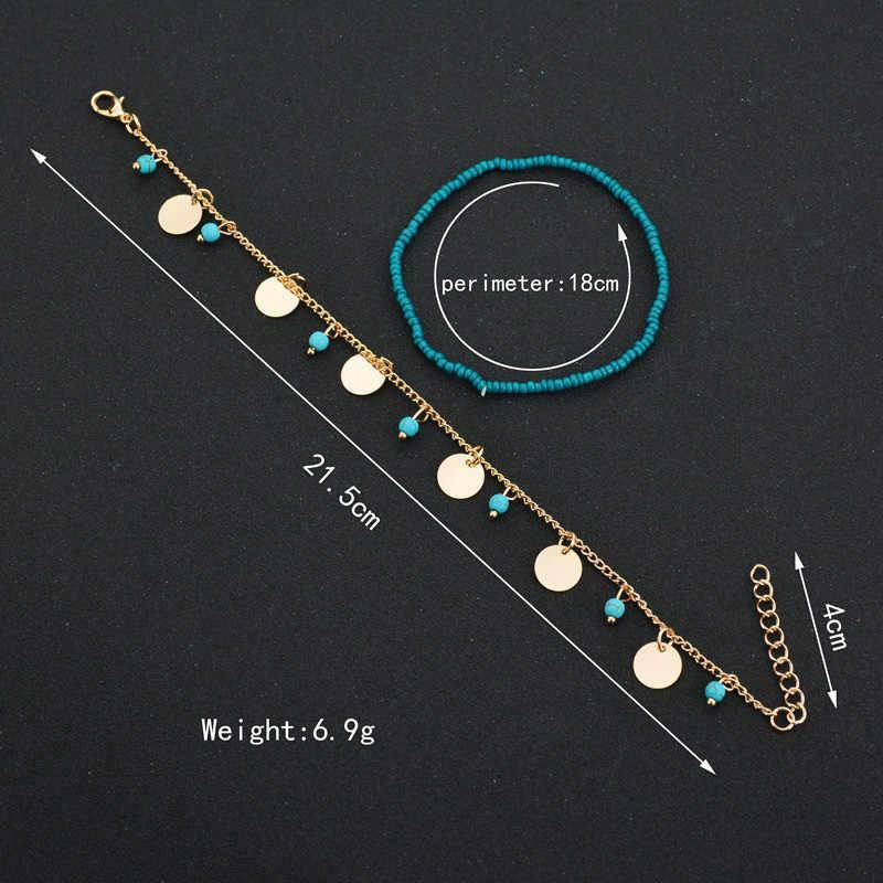ボヘミアンビーズ足首のブレスレット脚チェーンタッセルアンクレットヴィンテージ足の宝石類のギフト