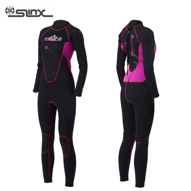 3mm Neoprene Scuba Diving Suit for Women, Swimming Surfing Jump Suit Surfacing Cloth Wetsuit One Piece Sizes For S M L XL XXL women surfing wetsuit athletics short sleeve swimwear woman one piece swimming suit swiming clothes diving bathing suit