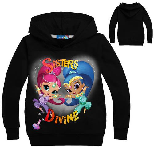 Kids Student Cotton Tops Sports Casual Tees Sweater Children Hoodie Long Sleeved T-Shirt Baby Girls Shimmer and Shine T Shirt