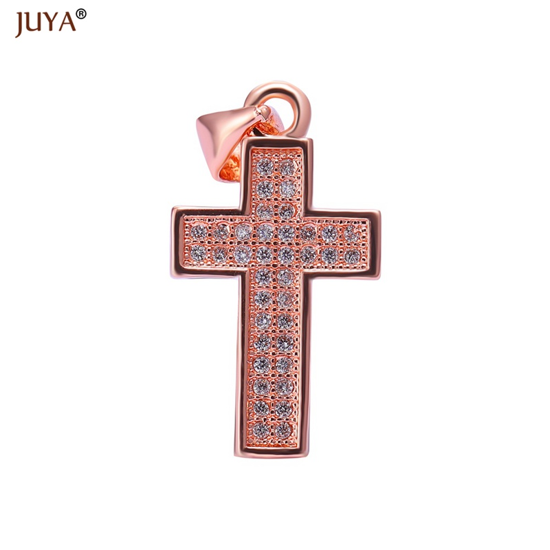 20mm*11mm Micro Pave CZ Rhinestone Crosses Charms For Jewelry Making Necklaces Accessories floating charms Jewellery