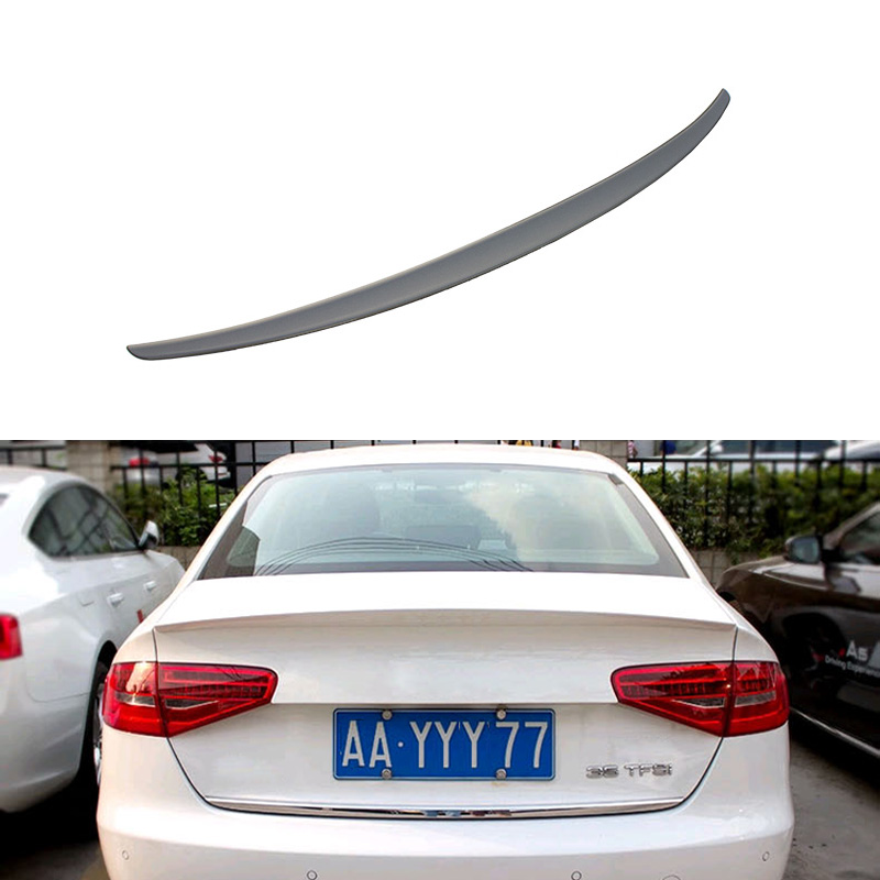 Car Rear Spoiler Trunk Roof Spoiler For Audi A4 2009 2010 2011 2012 Without The Paint Car Tail Spoiler Auto Spoiler Decoration car rear trunk security shield shade cargo cover for nissan qashqai 2008 2009 2010 2011 2012 2013 black beige